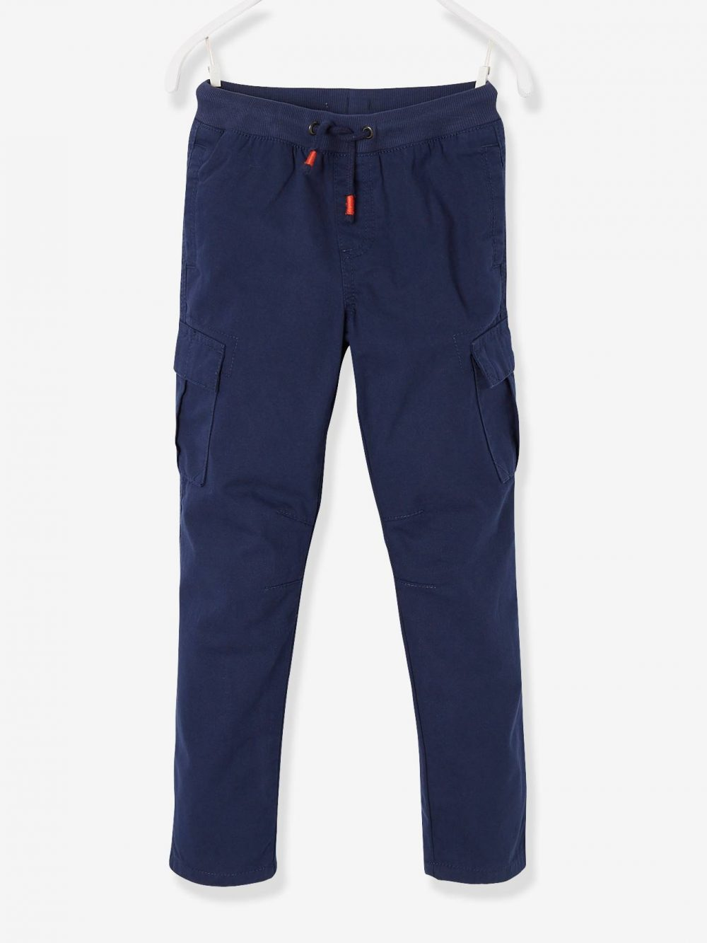 Cargo-Style Trousers, Lined, for Boys blue dark solid
