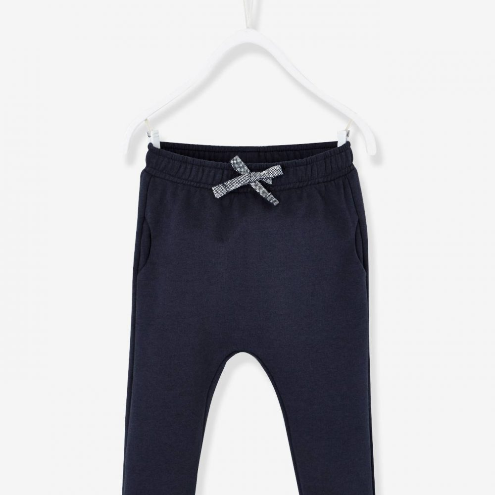 Casual Fleece Trousers for Baby Girls blue dark solid