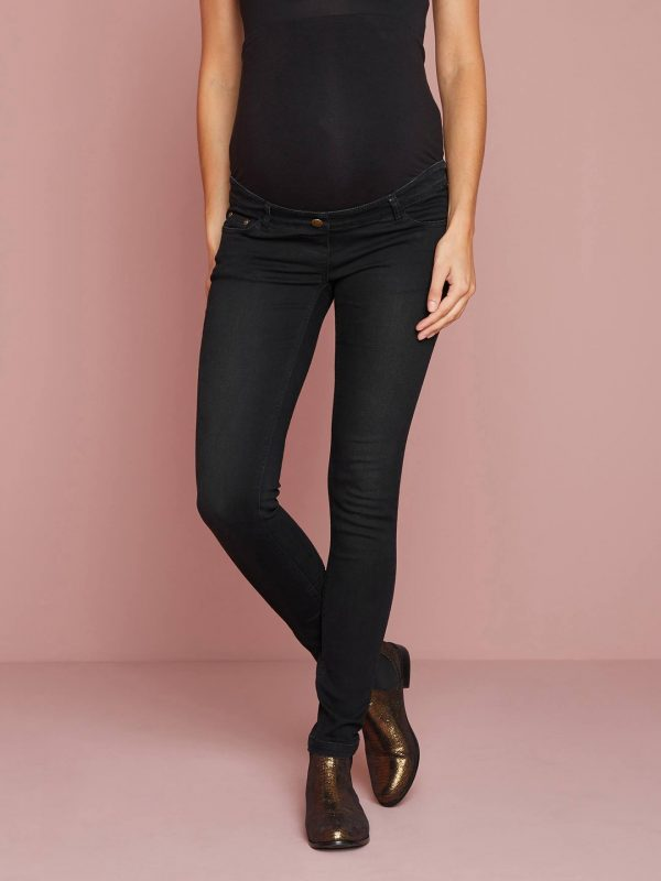 "Maternity Slim Stretch Jeans - Inside Leg 30"" blue dark wasched"