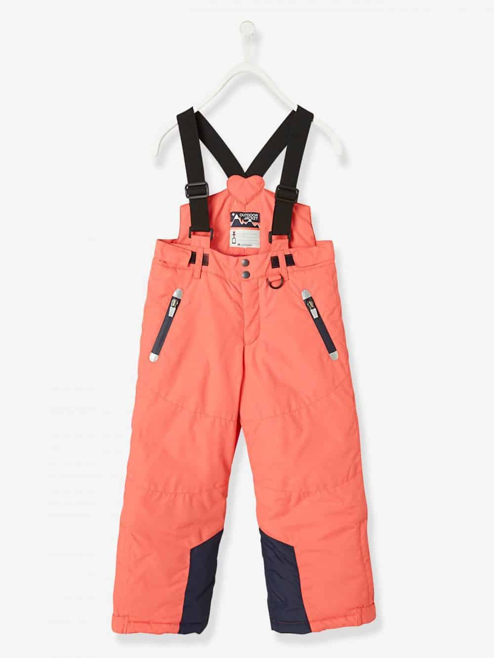 Ski Trousers, for Girls pink bright solid