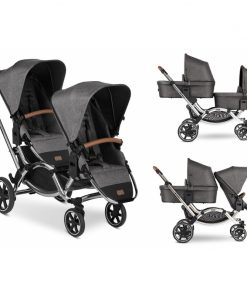 ABC Design Zoom Tandem Diamond Edition 2in1 Pram System-Asphalt