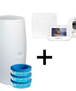 Angelcare Nappy Disposal System With AC327 Video Baby Monitor
