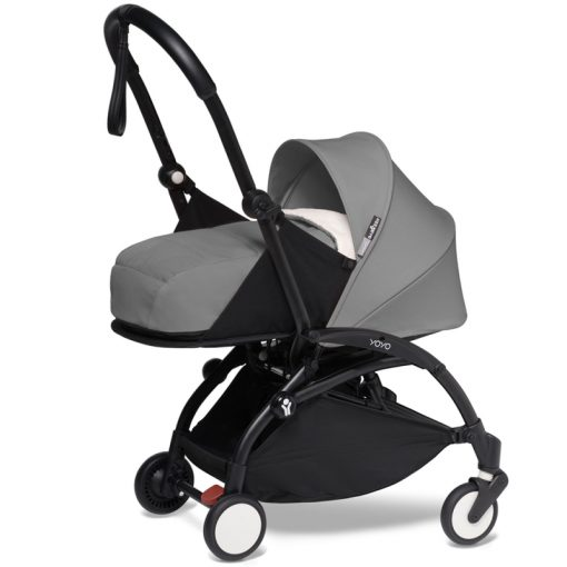 BABYZEN YOYO 2 Black Frame Newborn Package-Sherpa Grey (New)