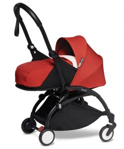 BABYZEN YOYO 2 Black Frame Newborn Package-Sherpa Red (New)