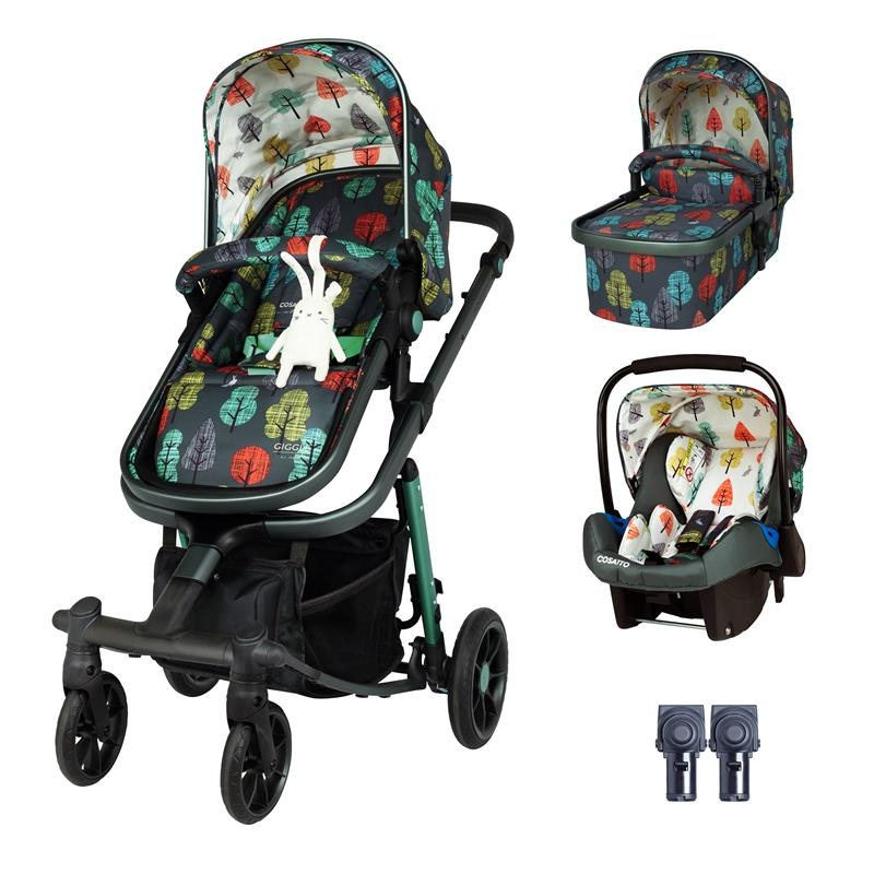 Cosatto Giggle Quad Travel System Bundle-Hare Wood