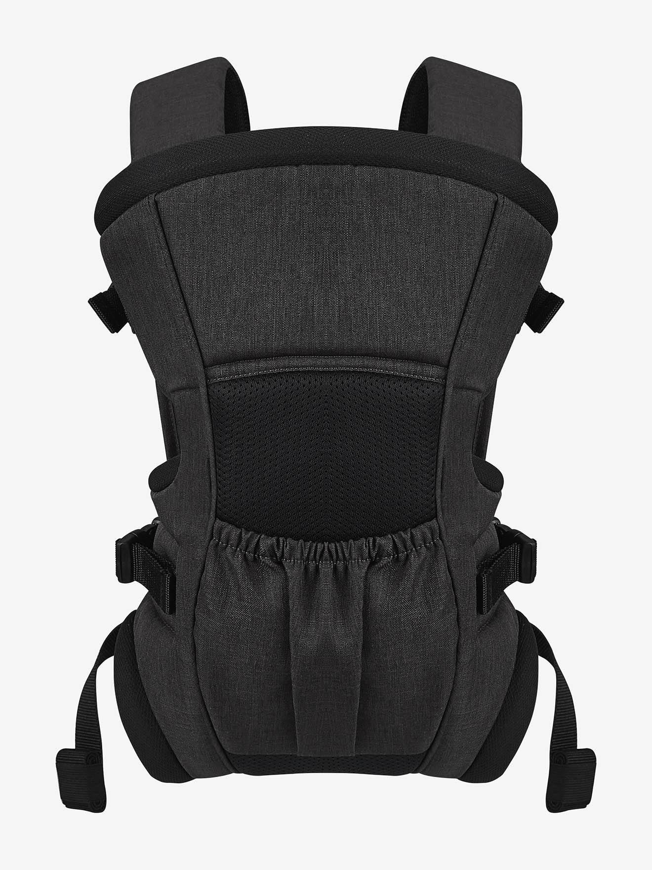 Front Position Baby Carrier, by Verbaudet black medium solid with design