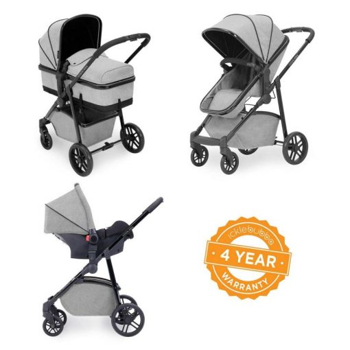 Ickle Bubba Moon 3-In-One Travel System-Silver Grey