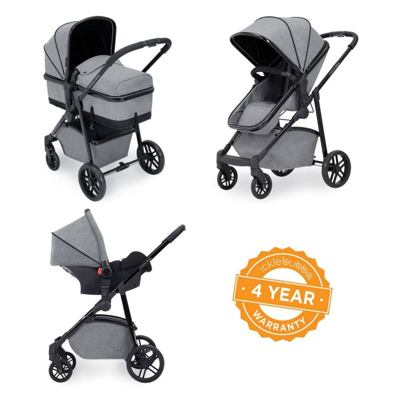 Ickle Bubba Moon 3-In-One Travel System-Space Grey