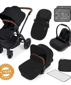 Ickle Bubba Stomp V3 Black Frame All-in-one Travel System-Black
