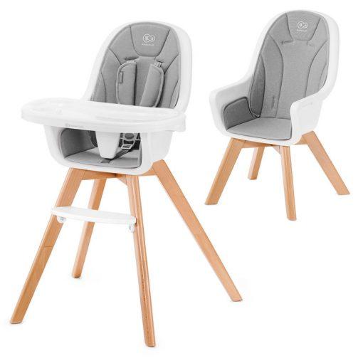 Kinderkraft Tixi 2in1 High Baby Feeding Chair-Grey