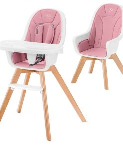 Kinderkraft Tixi 2in1 High Baby Feeding Chair-Pink