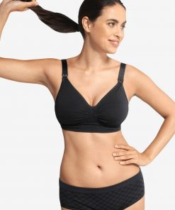 Maternity & Nursing Special Seamless Bra, GelWire® by CARRIWELL black medium solid