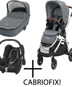 Maxi Cosi Adorra 3in1 Cabriofix Travel System-Essential Grey (NEW)