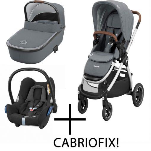 Maxi Cosi Adorra 3in1 Cabriofix Travel System-Essential Grey (NEW)