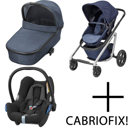 Maxi Cosi Lila 3in1 Cabriofix Travel System-Nomad Blue