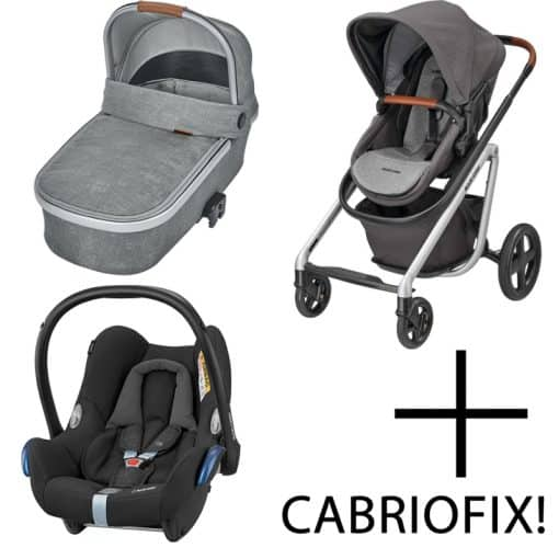 Maxi Cosi Lila 3in1 Cabriofix Travel System-Nomad Grey