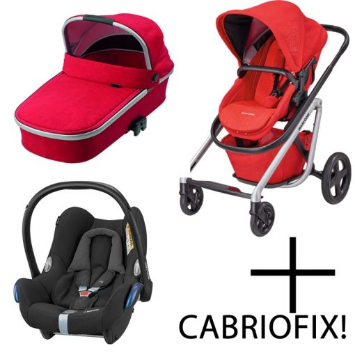 Maxi Cosi Lila 3in1 Cabriofix Travel System-Nomad Red