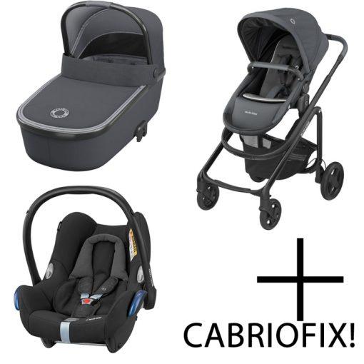 Maxi Cosi Lila CP 3in1 Cabriofix Travel System-Essential Graphite
