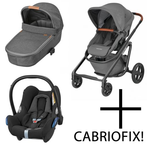 Maxi Cosi Lila Luxe 3in1 Cabriofix Travel System-Sparkling Grey