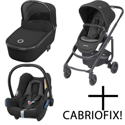 Maxi Cosi Lila SP 3in1 Cabriofix Travel System-Essential Black
