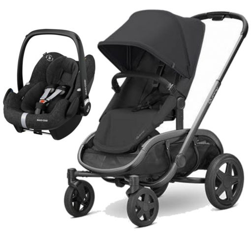 Quinny Hubb Graphite Frame 2in1 Pebble Pro Travel System-Black/Black