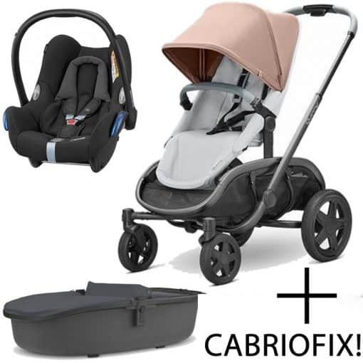 Quinny Hubb Graphite Frame 3in1 Travel System-Cork/Grey