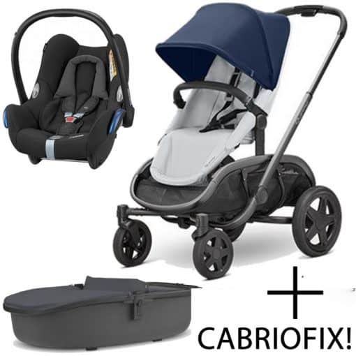 Quinny Hubb Graphite Frame 3in1 Travel System-Navy/Grey