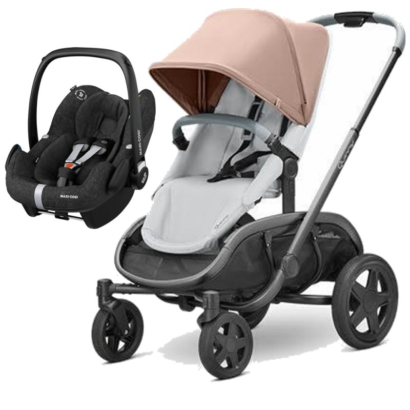 Quinny Hubb Graphite Frame XXL 2in1 Pebble Pro Travel System-Cork/Grey