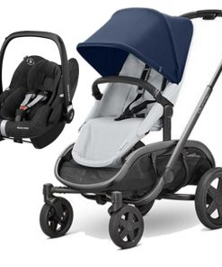 Quinny Hubb Graphite Frame XXL 2in1 Pebble Pro Travel System-Navy/Grey