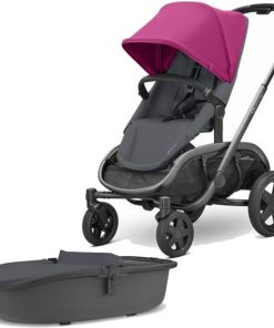 Quinny Hubb Graphite Frame XXL 2in1 Pram System-Pink/Graphite
