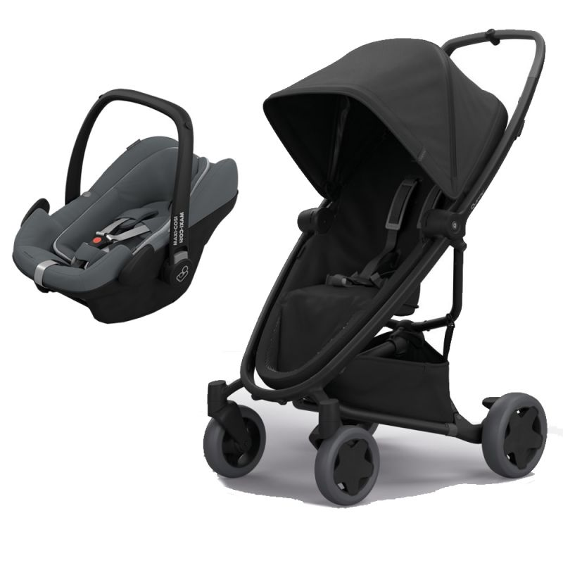 Quinny Zapp Flex Plus 2in1 Pebble Plus Travel System-Black on Black (NEW 2019)