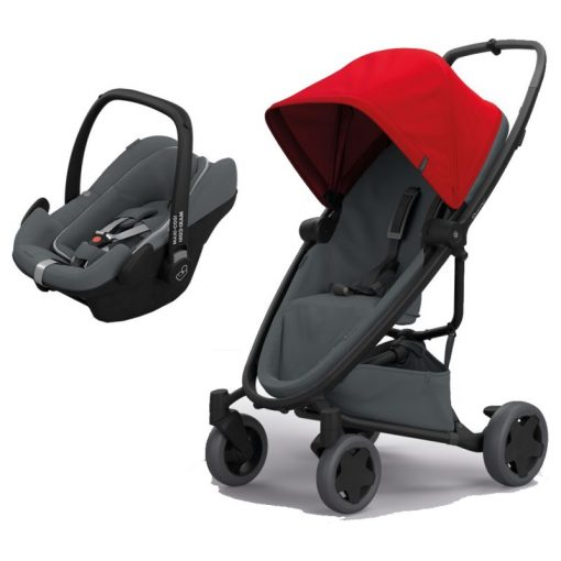 Quinny Zapp Flex Plus 2in1 Pebble Plus Travel System-Red on Graphite (NEW 2019)