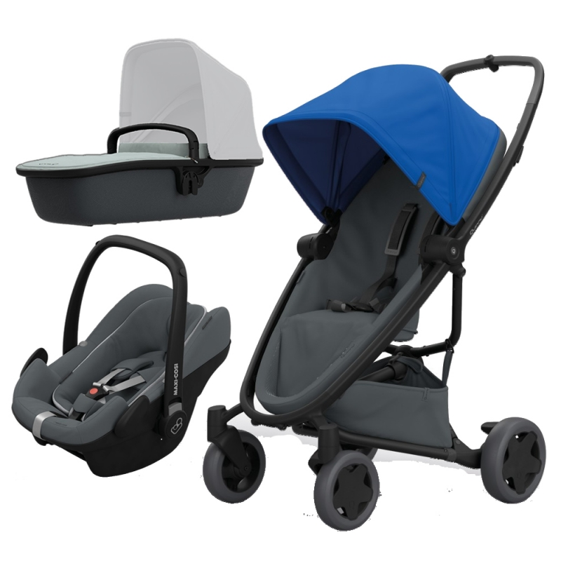 Quinny Zapp Flex Plus 3in1 Travel System-Blue on Graphite (New)