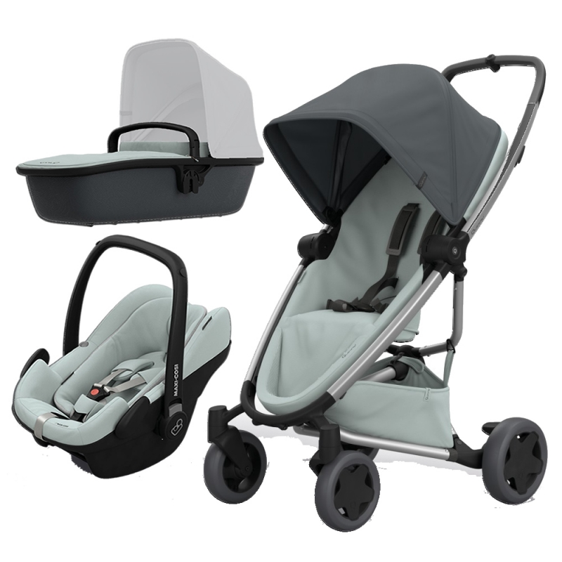 Quinny Zapp Flex Plus 3in1 Travel System-Graphite on Grey (NEW 2019)