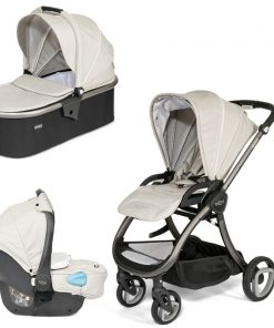 Tutti Bambini Arlo Charcoal 3in1 Travel System-Oatmeal