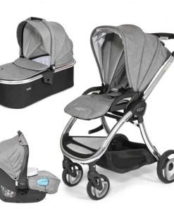 Tutti Bambini Arlo Chrome 3in1 Travel System-Charcoal