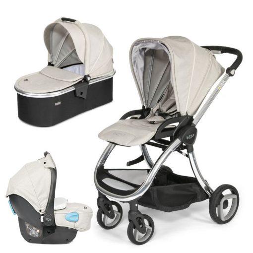Tutti Bambini Arlo Chrome 3in1 Travel System-Oatmeal