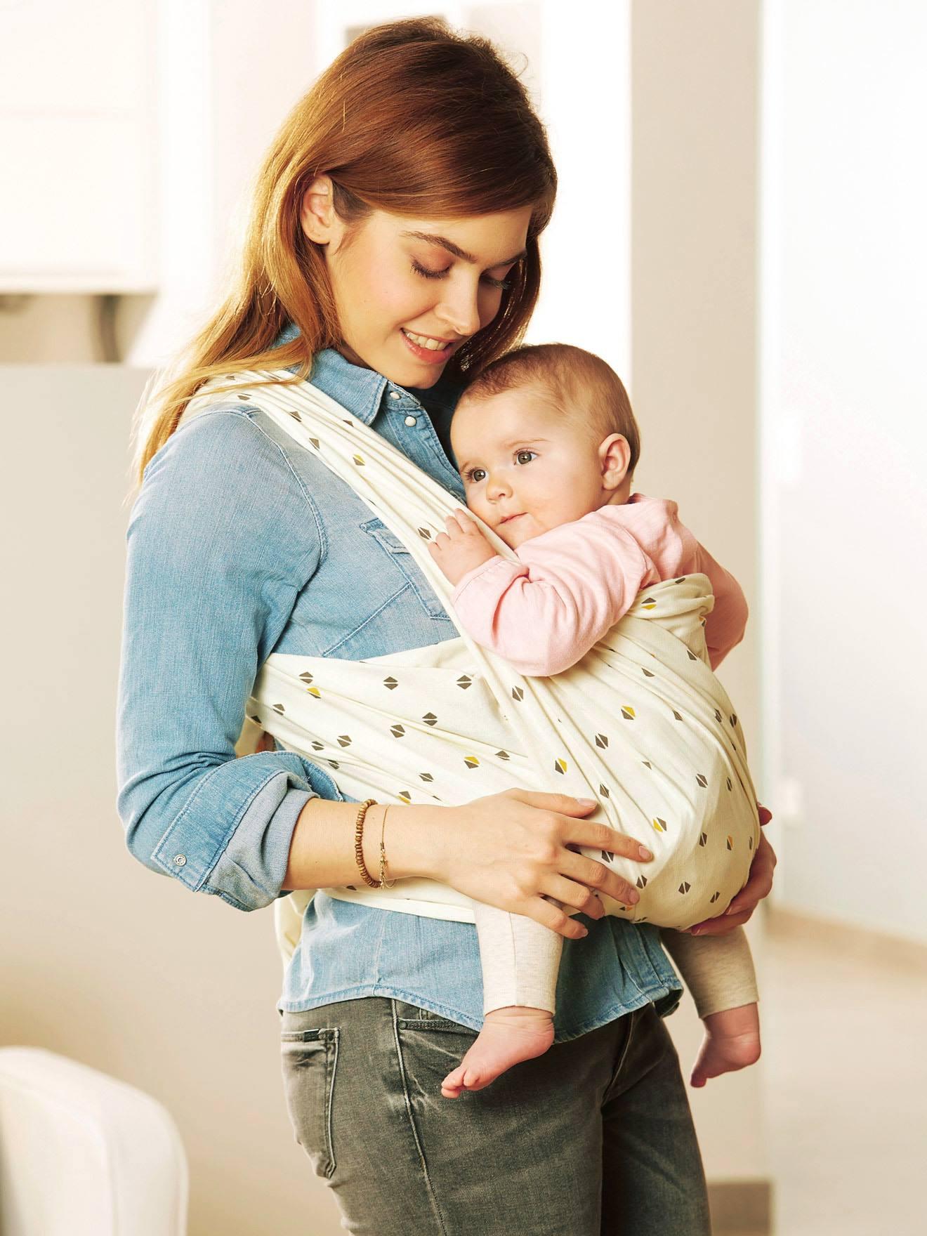 VERTBAUDET Wrap Baby Carrier cream