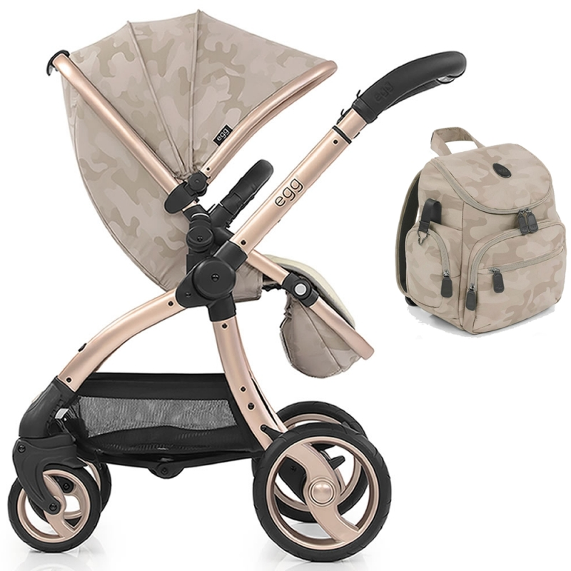 egg® Special Edition Stroller With Liner & Back Pack-Camo Sand (New 2019)