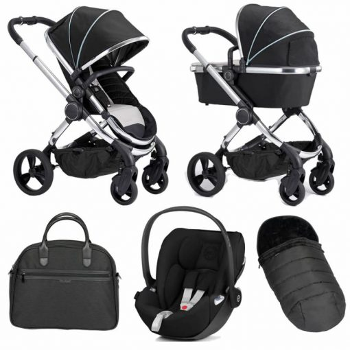 iCandy Peach Chrome 6 Piece Bundle-Black Twill