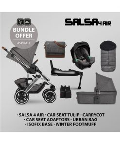 ABC Design Salsa 4 Air ISOFIX Bundle-Asphalt
