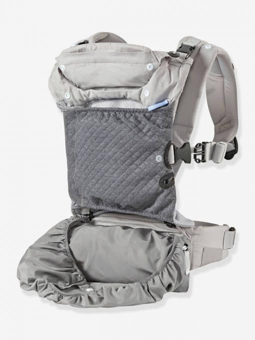 In Season 5 Layer Ergonomic Baby Carrier by INFANTINO grey light solid