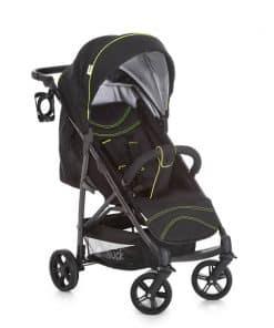 Hauck Rapid 4S Stroller-Caviar/Neon Yellow (New 2018)