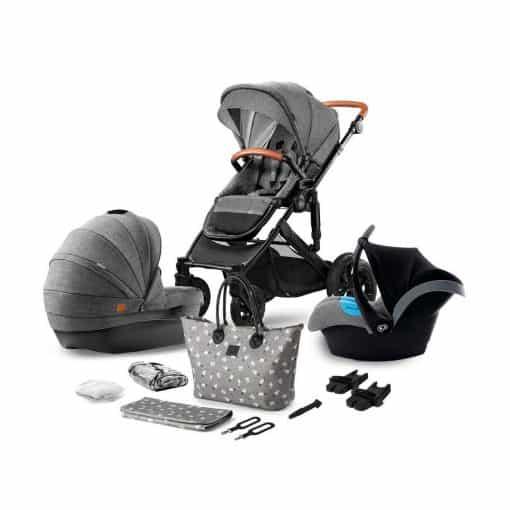 Kinderkraft Prime 3in1 Travel System-Grey (2020)