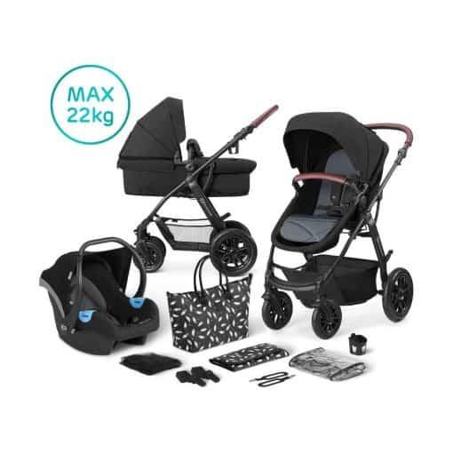 Kinderkraft XMoov 3in1 Travel System-Black (2020)