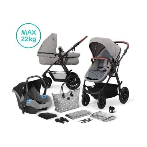 Kinderkraft XMoov 3in1 Travel System-Grey (2020)