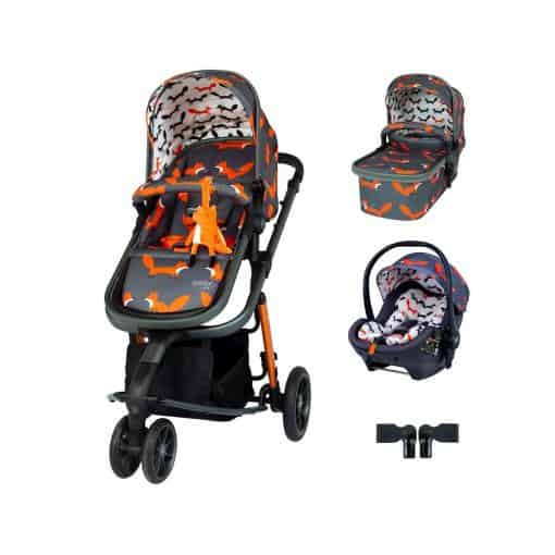 Cosatto Giggle 3 Premium Travel System Bundle-Charcoal Mister Fox