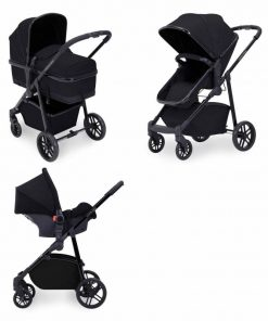 Ickle Bubba Moon 3-In-One Travel System-Black