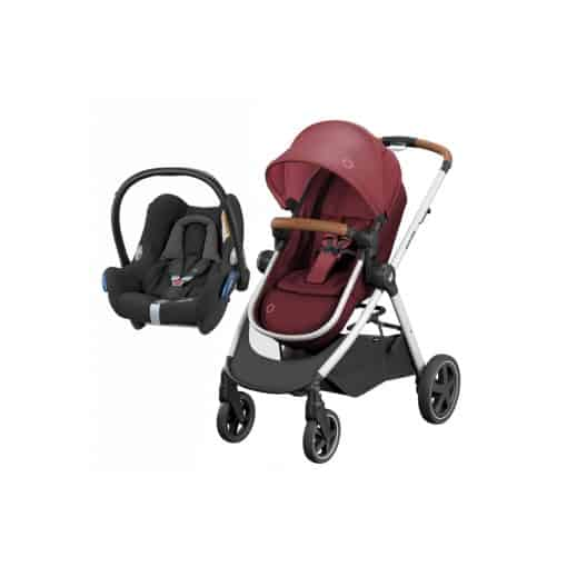 Maxi Cosi Zelia 2in1 Cabriofix Travel System-Essential Red (NEW 2019)