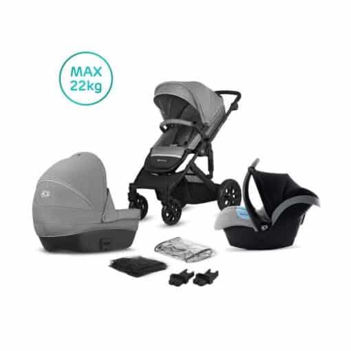 Kinderkraft Prime Lite 3in1 Travel System-Grey (New 2020)